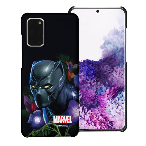 Galaxy Note20 Case (6.7inch) Marvel Avengers [Slim Fit] Thin Hard Matte Surface Excellent Grip Cover - Black Panther Face Black