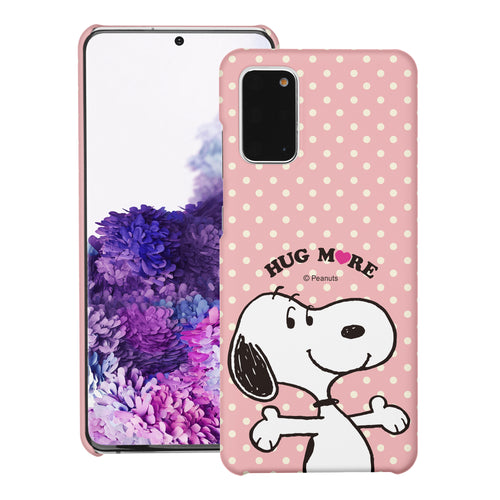 Galaxy S20 Ultra Case (6.9inch) [Slim Fit] PEANUTS Thin Hard Matte Surface Excellent Grip Cover - Hug Snoopy