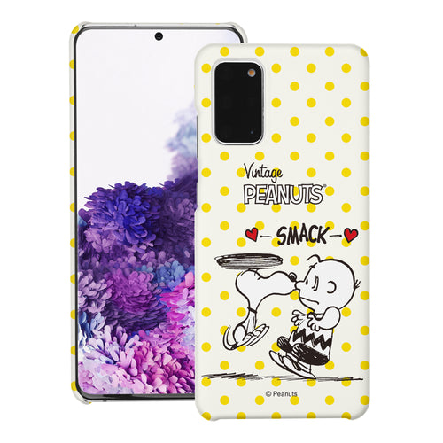 Galaxy S20 Ultra Case (6.9inch) [Slim Fit] PEANUTS Thin Hard Matte Surface Excellent Grip Cover - Smack Snoopy Charlie Brown
