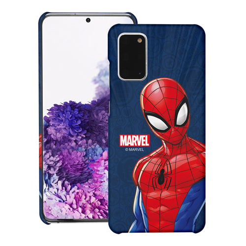 Galaxy Note20 Ultra Case (6.9inch) Marvel Avengers [Slim Fit] Thin Hard Matte Surface Excellent Grip Cover - Illustration Spider Man