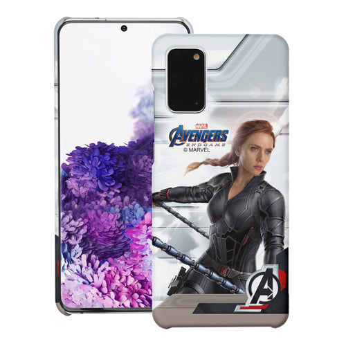 Galaxy S20 Case (6.2inch) Marvel Avengers [Slim Fit] Thin Hard Matte Surface Excellent Grip Cover - End Game Black Widow