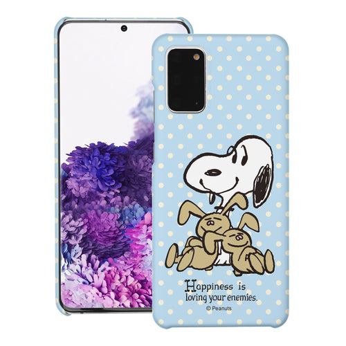 Galaxy S20 Ultra Case (6.9inch) [Slim Fit] PEANUTS Thin Hard Matte Surface Excellent Grip Cover - Hug Snoopy Bunnies
