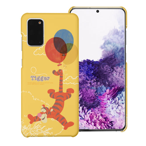 Galaxy S20 Ultra Case (6.9inch) [Slim Fit] Disney Pooh Thin Hard Matte Surface Excellent Grip Cover - Balloon Tigger