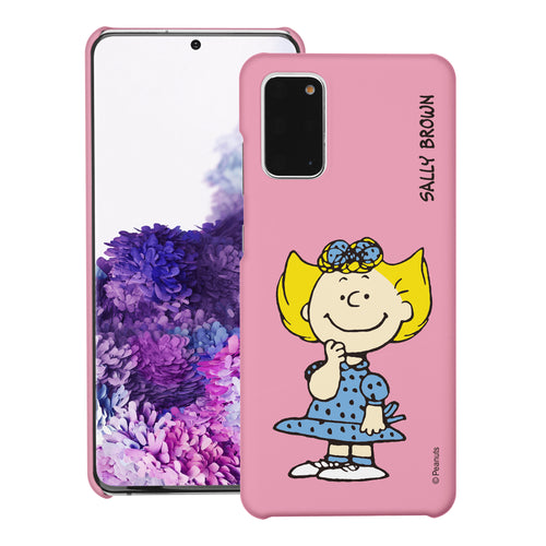 Galaxy S20 Ultra Case (6.9inch) [Slim Fit] PEANUTS Thin Hard Matte Surface Excellent Grip Cover - Smile Sally