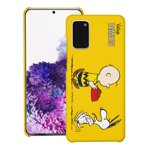 Galaxy S20 Ultra Case (6.9inch) [Slim Fit] PEANUTS Thin Hard Matte Surface Excellent Grip Cover - Cute Snoopy Food