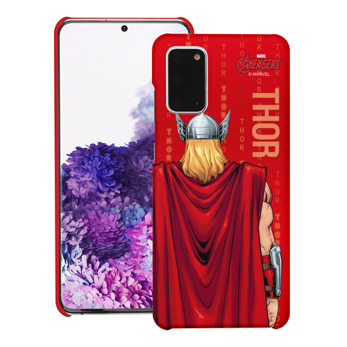 Galaxy S20 Case (6.2inch) Marvel Avengers [Slim Fit] Thin Hard Matte Surface Excellent Grip Cover - Back Thor