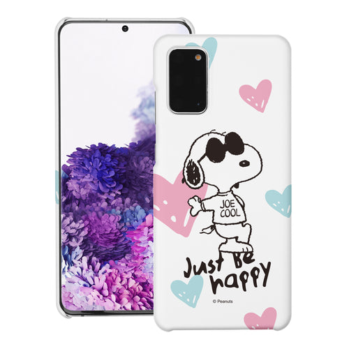 Galaxy S20 Ultra Case (6.9inch) [Slim Fit] PEANUTS Thin Hard Matte Surface Excellent Grip Cover - Snoopy Love Pink