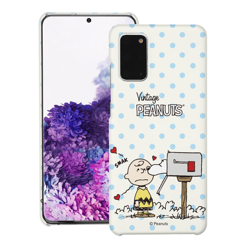 Galaxy S20 Ultra Case (6.9inch) [Slim Fit] PEANUTS Thin Hard Matte Surface Excellent Grip Cover - Smack Charlie Brown Mailbox