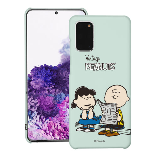 Galaxy S20 Ultra Case (6.9inch) [Slim Fit] PEANUTS Thin Hard Matte Surface Excellent Grip Cover - Vivid Charlie Brown Lucy