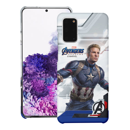 Galaxy Note20 Case (6.7inch) Marvel Avengers [Slim Fit] Thin Hard Matte Surface Excellent Grip Cover - End Game Captain America