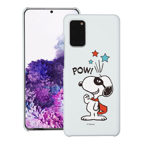 Galaxy S20 Ultra Case (6.9inch) [Slim Fit] PEANUTS Thin Hard Matte Surface Excellent Grip Cover - Snoopy Pow Mint