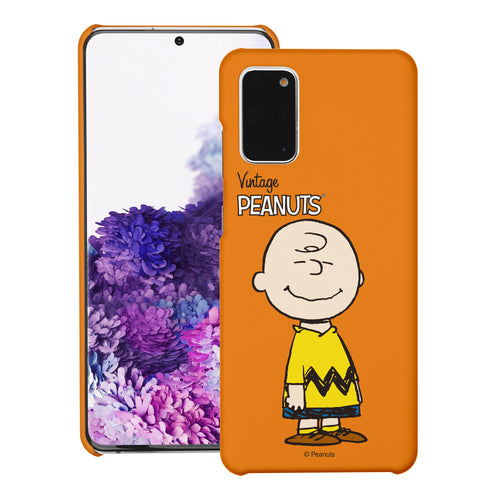 Galaxy S20 Ultra Case (6.9inch) [Slim Fit] PEANUTS Thin Hard Matte Surface Excellent Grip Cover - Simple Charlie Brown