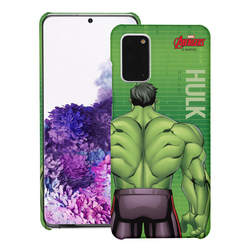 Galaxy Note20 Case (6.7inch) Marvel Avengers [Slim Fit] Thin Hard Matte Surface Excellent Grip Cover - Back Hulk