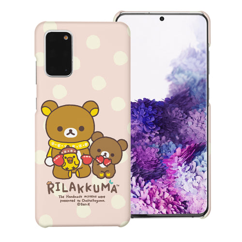 Galaxy S20 Ultra Case (6.9inch) [Slim Fit] Rilakkuma Thin Hard Matte Surface Excellent Grip Cover - Chairoikoguma Sit