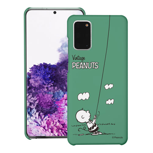 Galaxy S20 Ultra Case (6.9inch) [Slim Fit] PEANUTS Thin Hard Matte Surface Excellent Grip Cover - Small Charlie Brown
