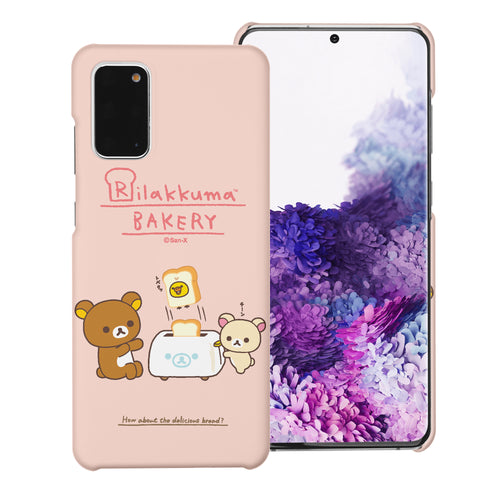 Galaxy S20 Ultra Case (6.9inch) [Slim Fit] Rilakkuma Thin Hard Matte Surface Excellent Grip Cover - Rilakkuma Toast