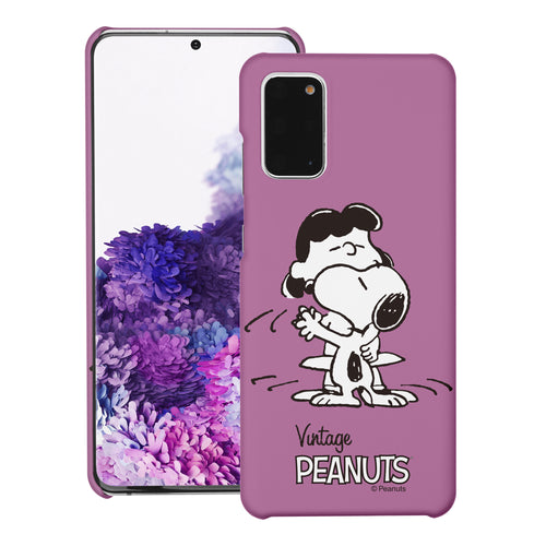 Galaxy S20 Ultra Case (6.9inch) [Slim Fit] PEANUTS Thin Hard Matte Surface Excellent Grip Cover - Cute Snoopy Lucy