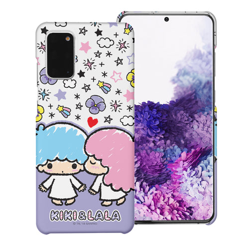 Galaxy S20 Ultra Case (6.9inch) [Slim Fit] Sanrio Thin Hard Matte Surface Excellent Grip Cover - Kiss Little Twin Stars