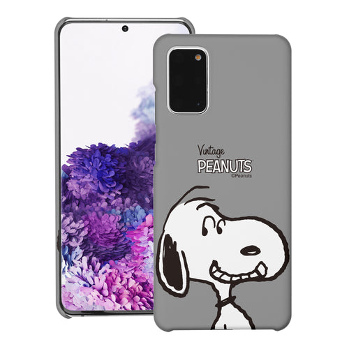 Galaxy S20 Ultra Case (6.9inch) [Slim Fit] PEANUTS Thin Hard Matte Surface Excellent Grip Cover - Face Snoopy
