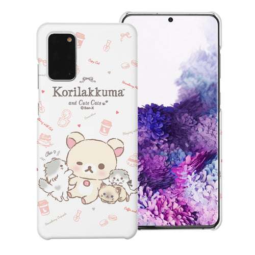 Galaxy S20 Ultra Case (6.9inch) [Slim Fit] Rilakkuma Thin Hard Matte Surface Excellent Grip Cover - Korilakkuma Cat