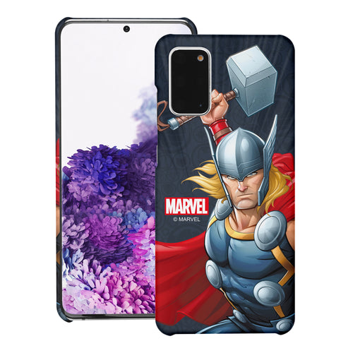 Galaxy S20 Case (6.2inch) Marvel Avengers [Slim Fit] Thin Hard Matte Surface Excellent Grip Cover - Illustration Thor