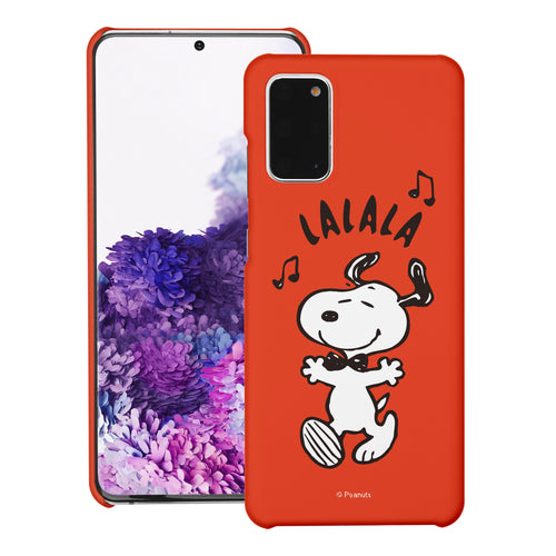Galaxy S20 Ultra Case (6.9inch) [Slim Fit] PEANUTS Thin Hard Matte Surface Excellent Grip Cover - Snoopy Lalala