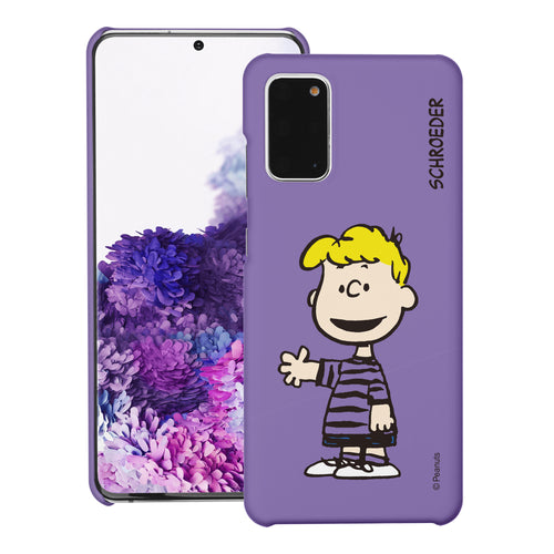 Galaxy S20 Ultra Case (6.9inch) [Slim Fit] PEANUTS Thin Hard Matte Surface Excellent Grip Cover - Smile Schroeder
