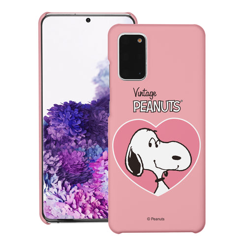 Galaxy S20 Ultra Case (6.9inch) [Slim Fit] PEANUTS Thin Hard Matte Surface Excellent Grip Cover - Vivid Snoopy Heart