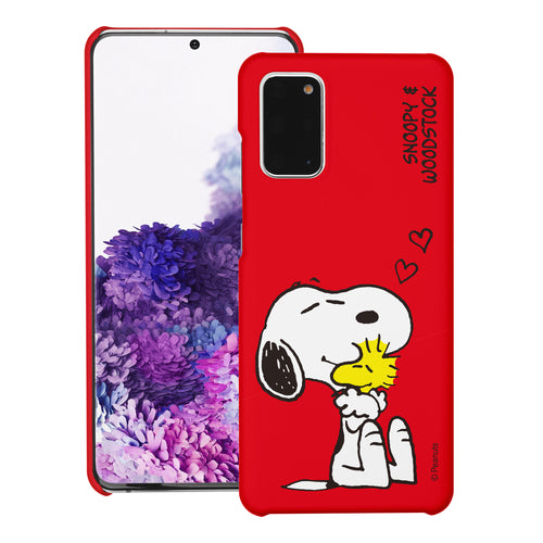 Galaxy S20 Ultra Case (6.9inch) [Slim Fit] PEANUTS Thin Hard Matte Surface Excellent Grip Cover - Smile Snoopy
