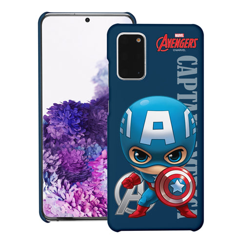 Galaxy Note20 Ultra Case (6.9inch) Marvel Avengers [Slim Fit] Thin Hard Matte Surface Excellent Grip Cover - Mini Captain America