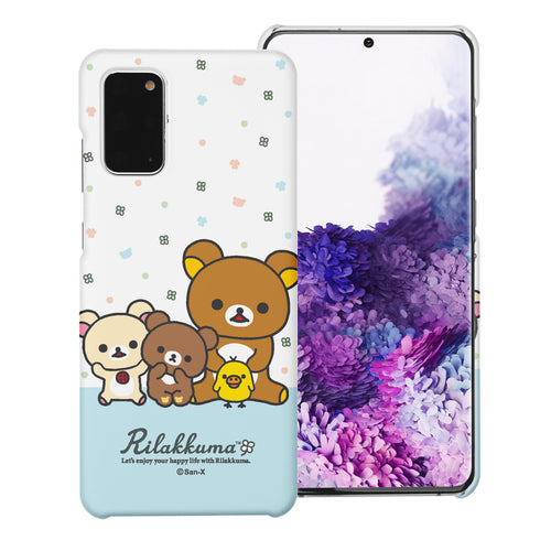 Galaxy S20 Ultra Case (6.9inch) [Slim Fit] Rilakkuma Thin Hard Matte Surface Excellent Grip Cover - Rilakkuma Friends