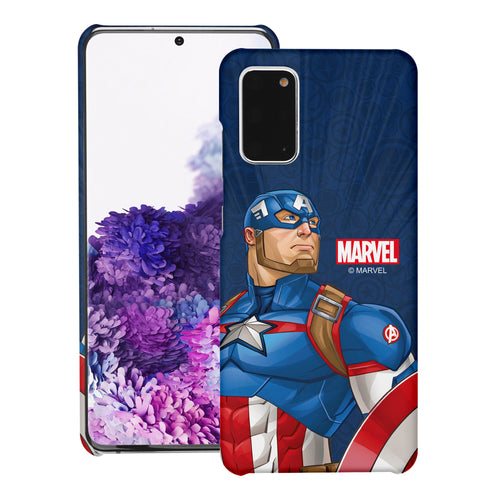 Galaxy Note20 Ultra Case (6.9inch) Marvel Avengers [Slim Fit] Thin Hard Matte Surface Excellent Grip Cover - Illustration Captain America