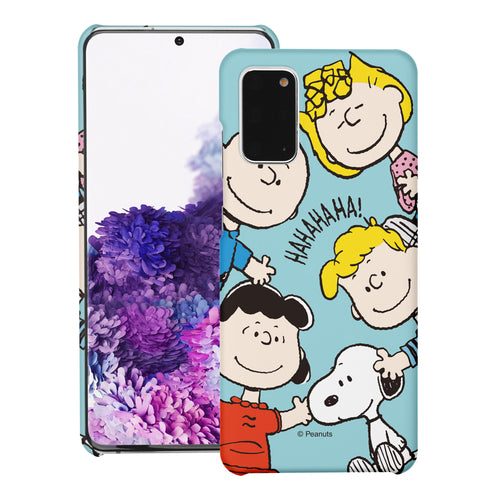 Galaxy S20 Ultra Case (6.9inch) [Slim Fit] PEANUTS Thin Hard Matte Surface Excellent Grip Cover - Peanuts Friends Face