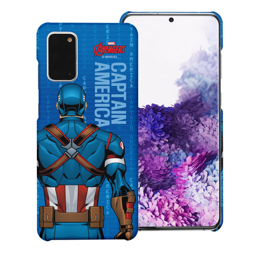 Galaxy Note20 Ultra Case (6.9inch) Marvel Avengers [Slim Fit] Thin Hard Matte Surface Excellent Grip Cover - Back Captain America