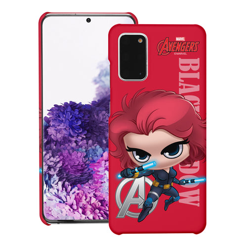Galaxy S20 Case (6.2inch) Marvel Avengers [Slim Fit] Thin Hard Matte Surface Excellent Grip Cover - Mini Black Widow