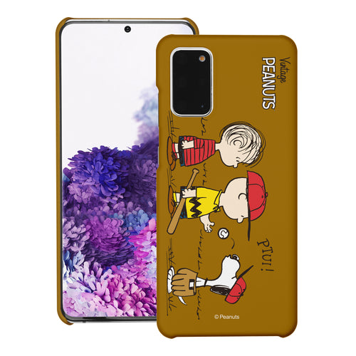 Galaxy S20 Ultra Case (6.9inch) [Slim Fit] PEANUTS Thin Hard Matte Surface Excellent Grip Cover - Cute Peanuts Baseball