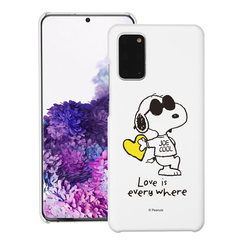Galaxy S20 Ultra Case (6.9inch) [Slim Fit] PEANUTS Thin Hard Matte Surface Excellent Grip Cover - Snoopy Love Yellow