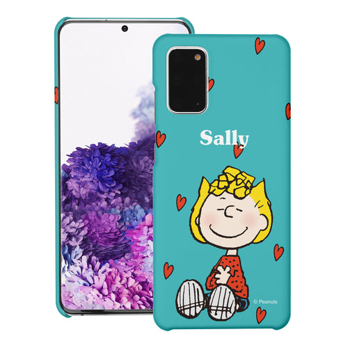 Galaxy S20 Ultra Case (6.9inch) [Slim Fit] PEANUTS Thin Hard Matte Surface Excellent Grip Cover - Sally Heart Sit