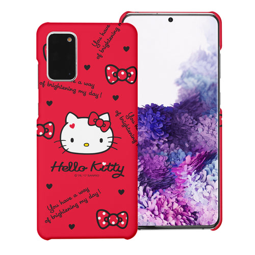 Galaxy S20 Ultra Case (6.9inch) [Slim Fit] Sanrio Thin Hard Matte Surface Excellent Grip Cover - Icon Hello Kitty