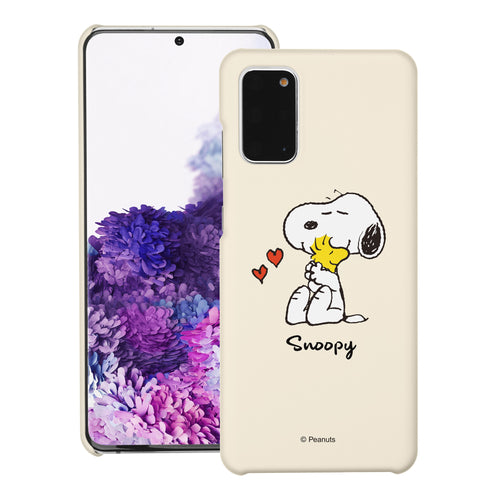 Galaxy S20 Ultra Case (6.9inch) [Slim Fit] PEANUTS Thin Hard Matte Surface Excellent Grip Cover - Snoopy Woodstock Hug