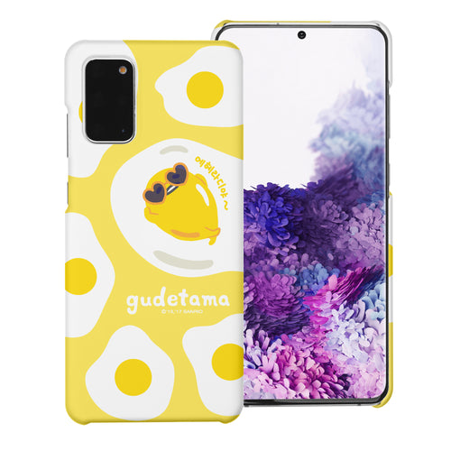Galaxy S20 Ultra Case (6.9inch) [Slim Fit] Sanrio Thin Hard Matte Surface Excellent Grip Cover - Rest Gudetama Yellow