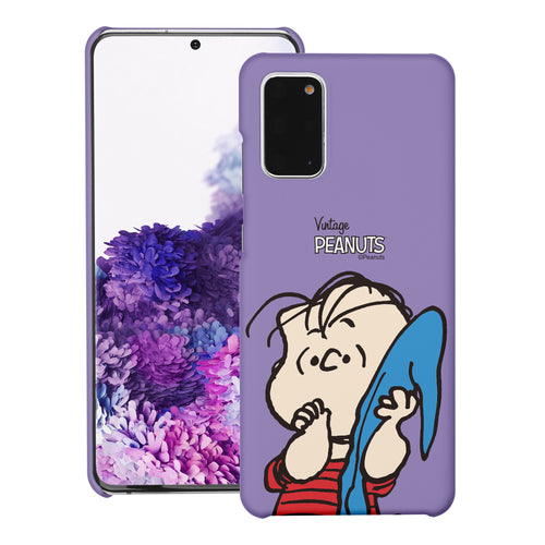 Galaxy S20 Ultra Case (6.9inch) [Slim Fit] PEANUTS Thin Hard Matte Surface Excellent Grip Cover - Face Linus
