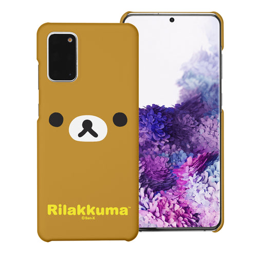 Galaxy S20 Ultra Case (6.9inch) [Slim Fit] Rilakkuma Thin Hard Matte Surface Excellent Grip Cover - Face Rilakkuma