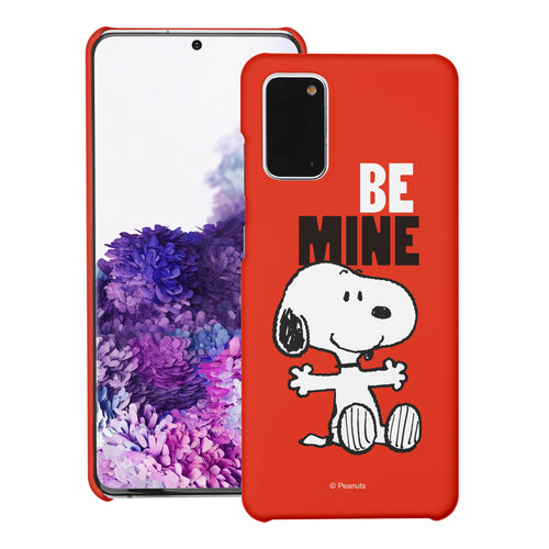 Galaxy S20 Ultra Case (6.9inch) [Slim Fit] PEANUTS Thin Hard Matte Surface Excellent Grip Cover - Snoopy Be Mine Red