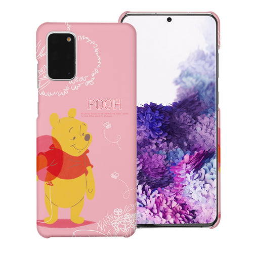 Galaxy Note20 Case (6.7inch) [Slim Fit] Disney Pooh Thin Hard Matte Surface Excellent Grip Cover - Balloon Pooh Ground