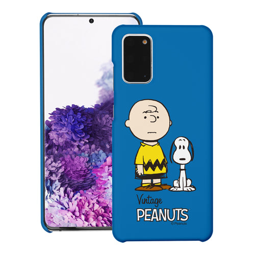 Galaxy S20 Ultra Case (6.9inch) [Slim Fit] PEANUTS Thin Hard Matte Surface Excellent Grip Cover - Cute Snoopy Charlie Brown