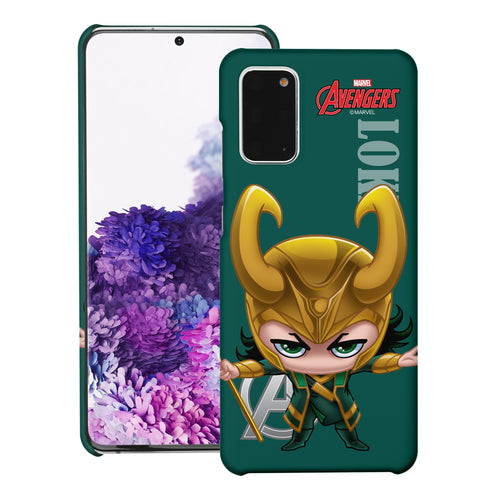 Galaxy Note20 Case (6.7inch) Marvel Avengers [Slim Fit] Thin Hard Matte Surface Excellent Grip Cover - Mini Loki