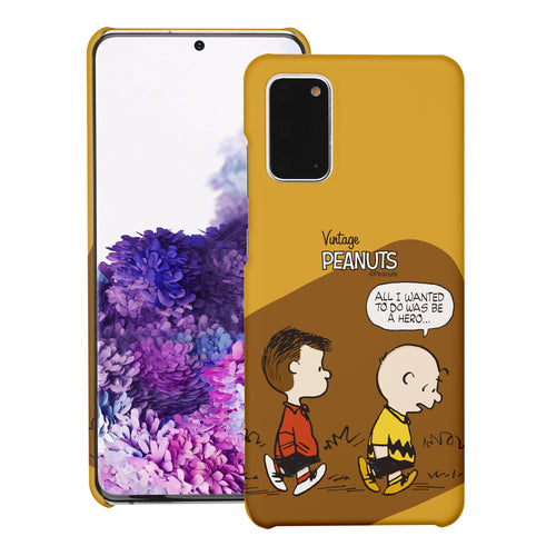 Galaxy S20 Ultra Case (6.9inch) [Slim Fit] PEANUTS Thin Hard Matte Surface Excellent Grip Cover - Cartoon Hero
