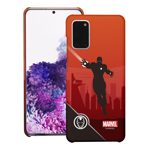 Galaxy Note20 Case (6.7inch) Marvel Avengers [Slim Fit] Thin Hard Matte Surface Excellent Grip Cover - Shadow Iron Man