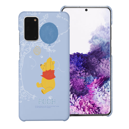 Galaxy S20 Case (6.2inch) [Slim Fit] Disney Pooh Thin Hard Matte Surface Excellent Grip Cover - Balloon Pooh Sky